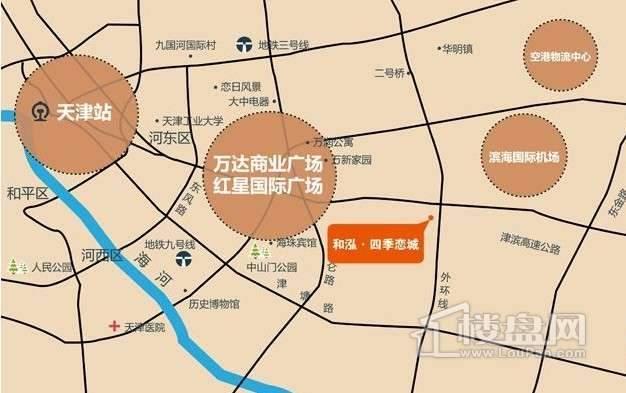 和泓四季恋城位置图