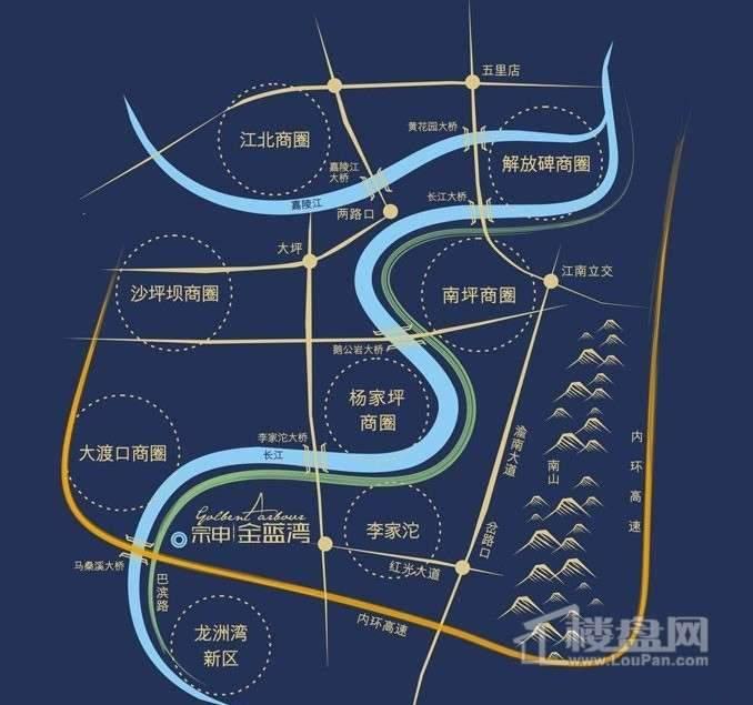 宗申金蓝湾 交通图