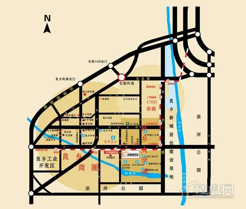 鸿顺园东区交通图
