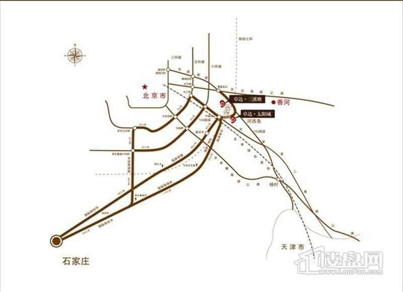 卓达太阳城位置图