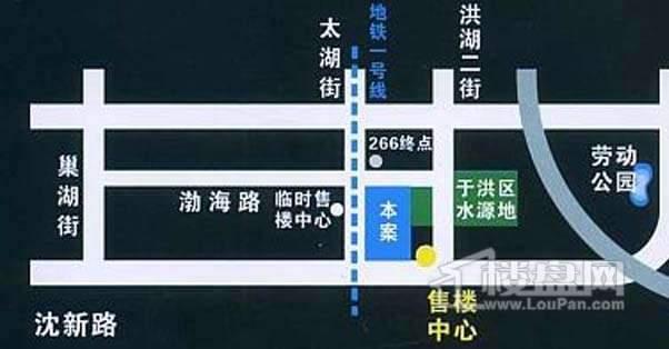世代龙泽湾交通图