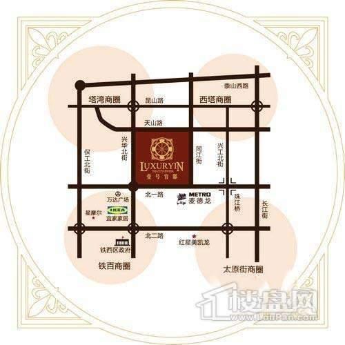 壹号官邸交通图