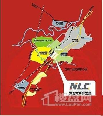 东北商贸物流城交通图