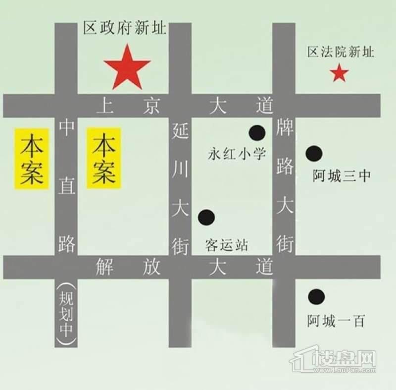 上京府邸交通图