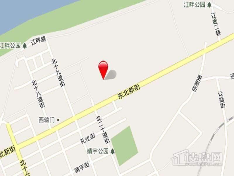 滨江国际交通图
