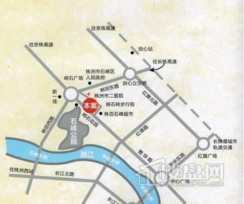 中铁•汇通国际交通图