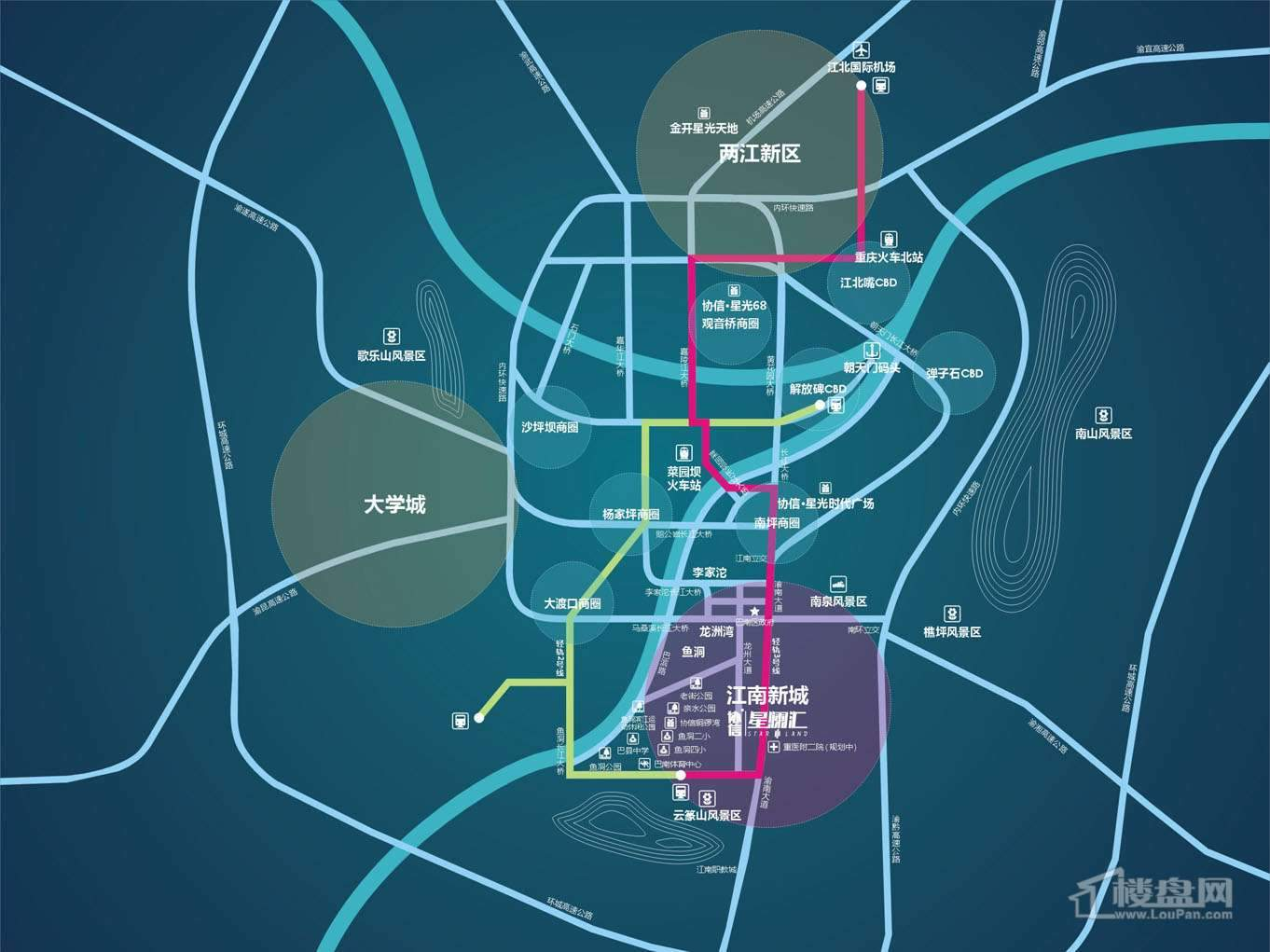 协信星澜汇 位置图
