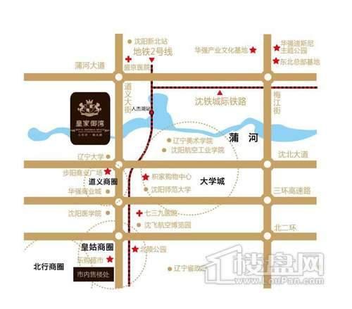 皇家御湾交通图