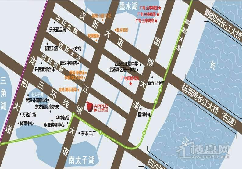 广电兰亭时代交通图