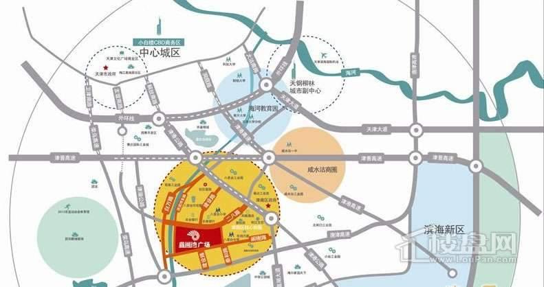 建鑫城位置图