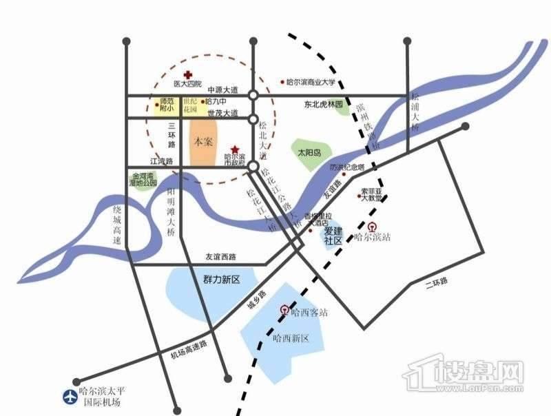 钻石湾地中海阳光交通图