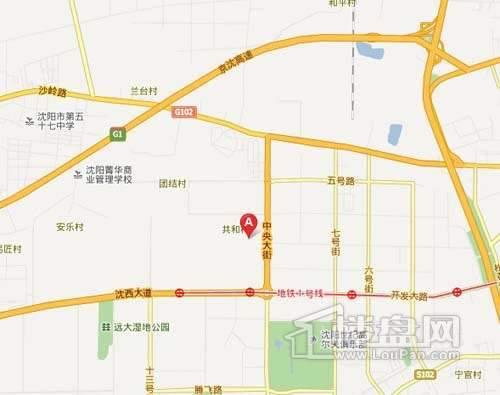 新湖青蓝国际交通图