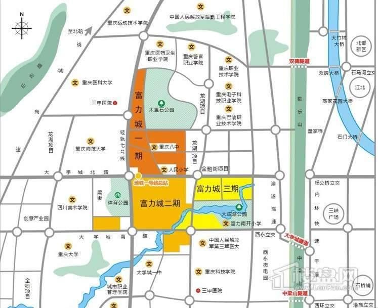 富力城 交通图