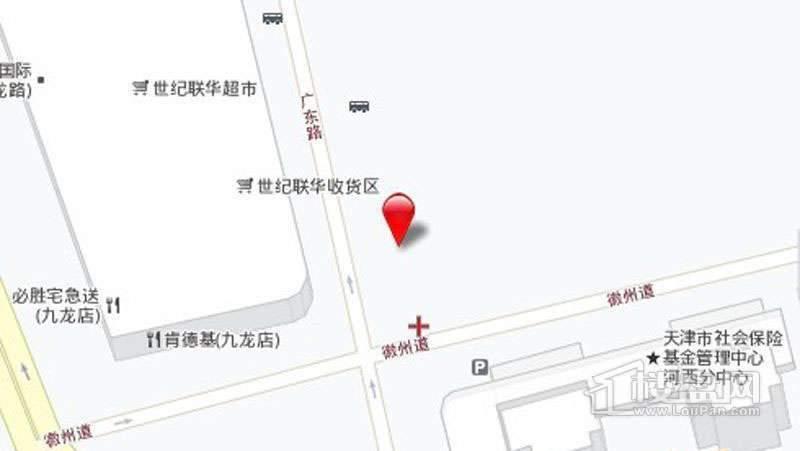 天津名门广场位置图