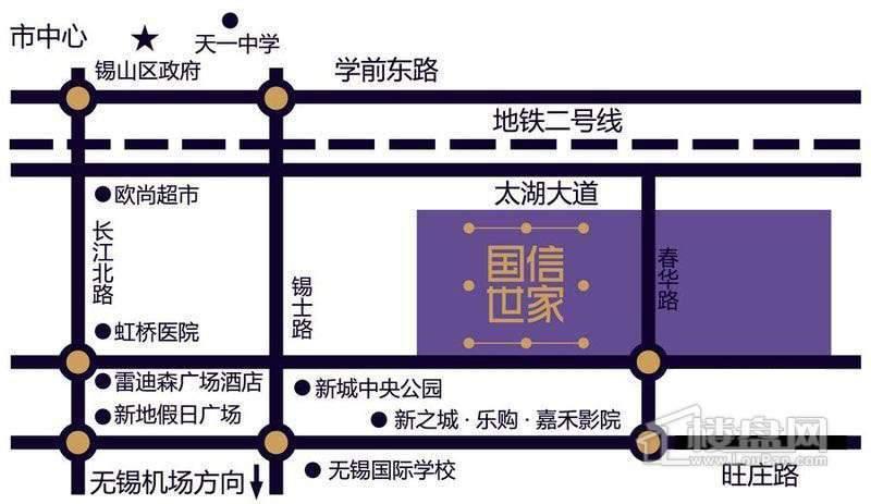 国信世家璞园交通图