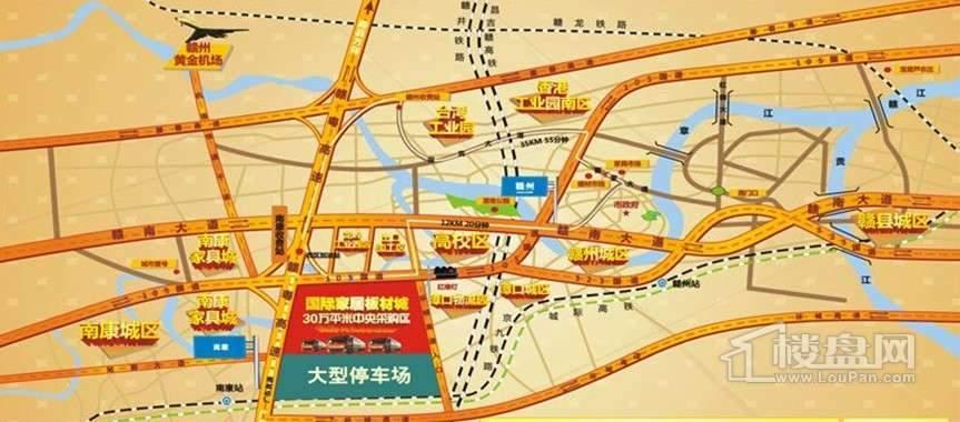 国际建材板材城交通图
