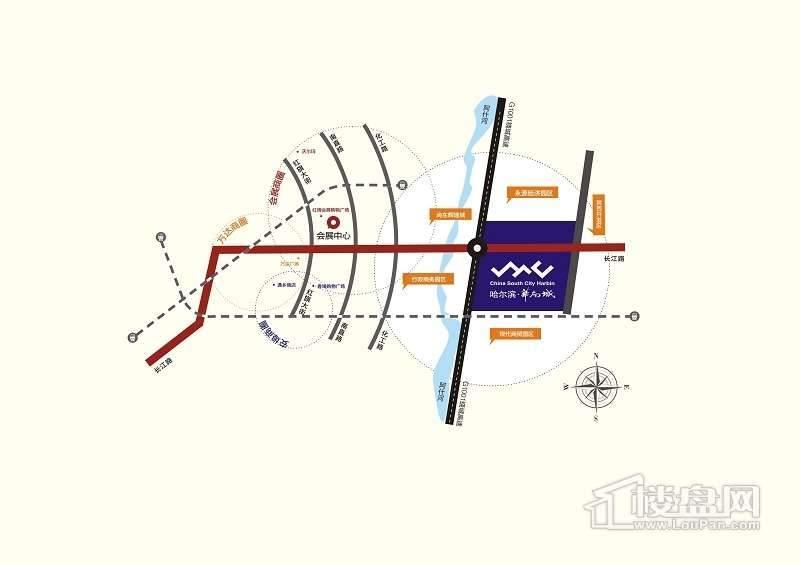 华南城交通图