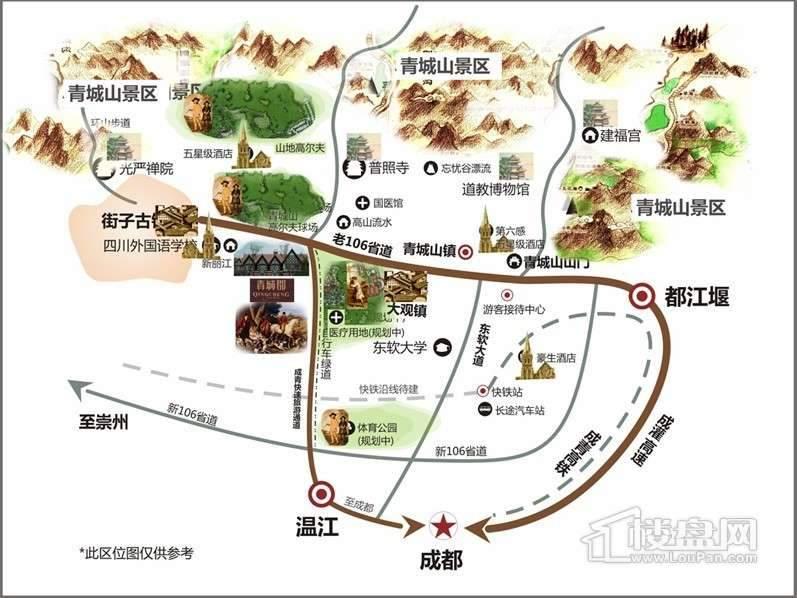 青城郡交通图