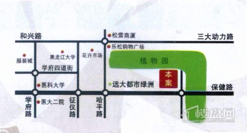 金色桃源交通图