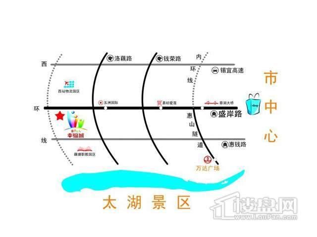 苹果园国际社区交通图