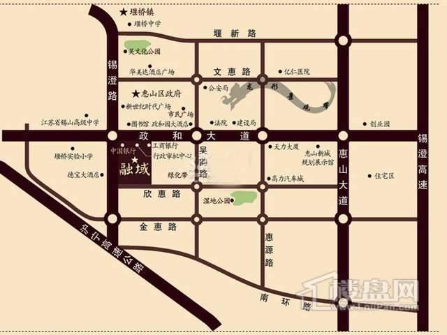 赛维拉融域交通图