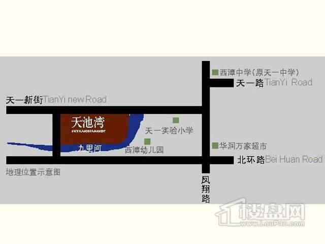 天池湾交通图