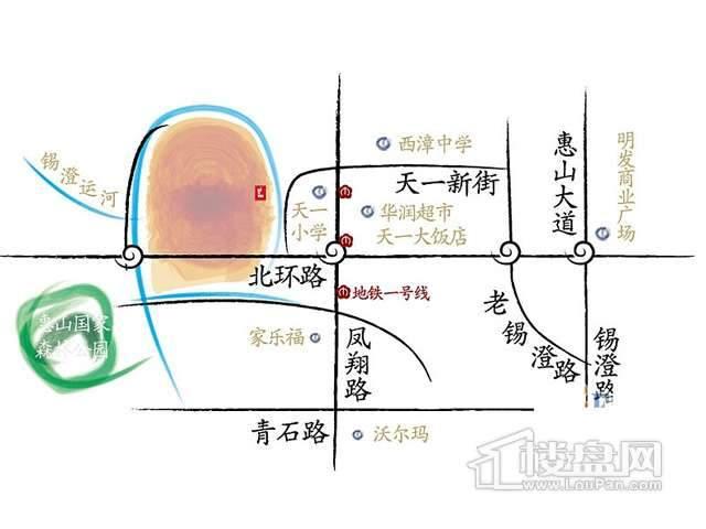 阳光100汀枫渡交通图