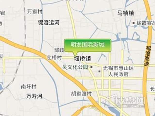 明发国际新城交通图