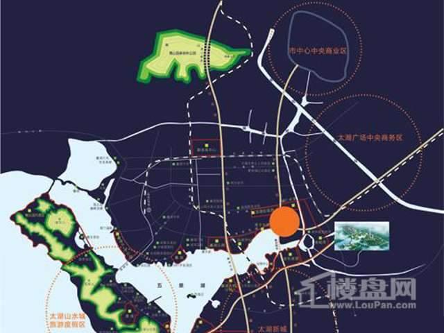 山水湖滨花园二期交通图