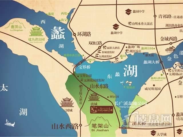 太湖畔山庄园交通图