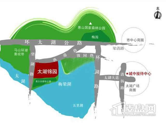 太湖锦园交通图