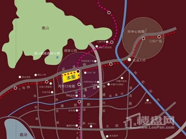 富安华庭交通图