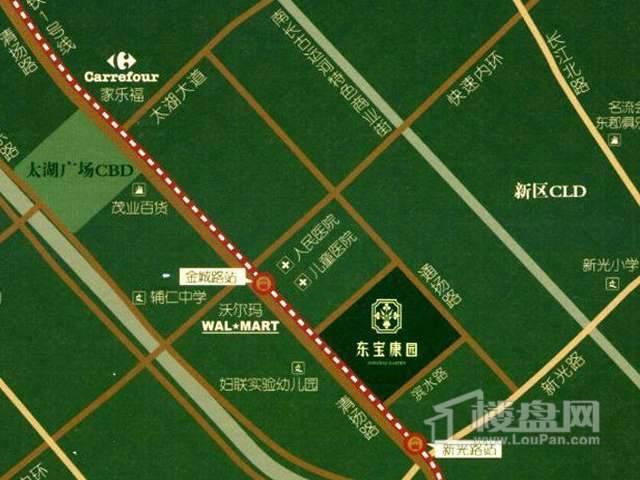 东宝康园交通图