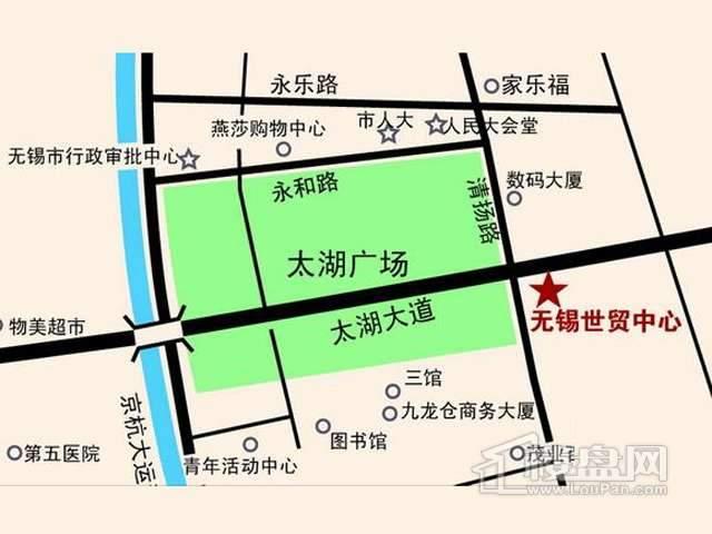 无锡世界贸易中心一期世贸公寓交通图