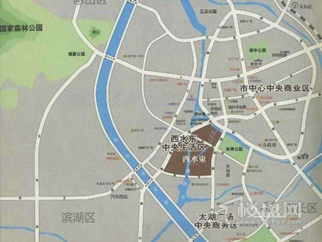 西水东中央生活区交通图