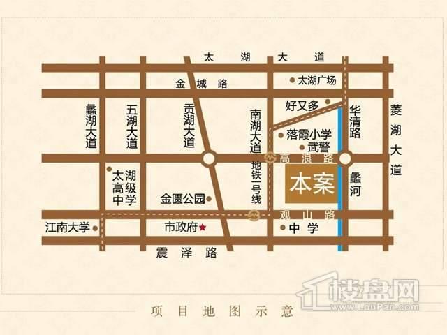 观山名筑交通图