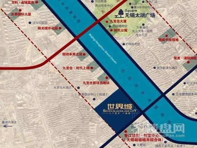 金科世界城交通图