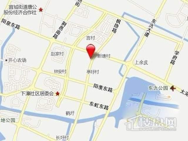誉珑湖滨交通图