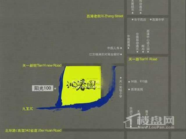 沁春园交通图