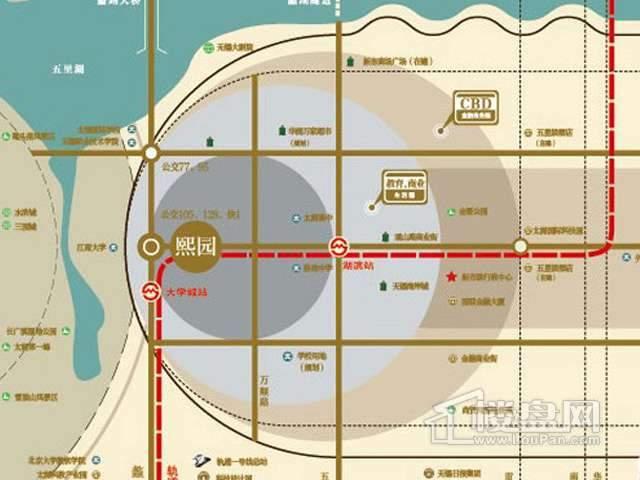 融创熙园交通图