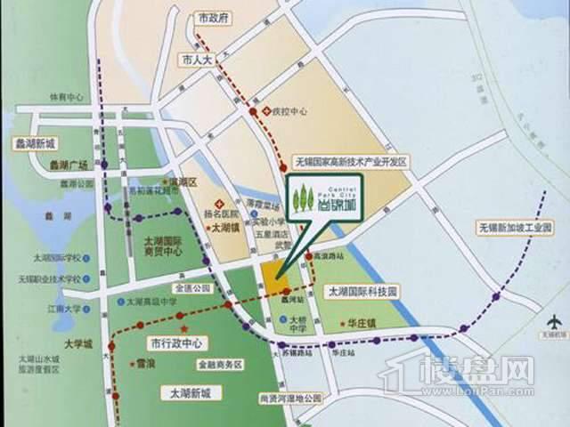 新加坡尚锦城交通图