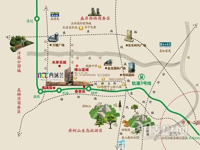 西城荟交通图