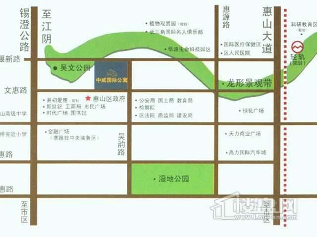 中威国际公寓交通图