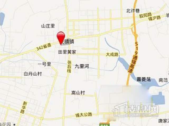 上海万业高铁商务区173504平住宅项目交通图