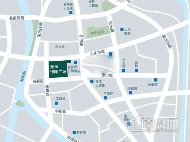 无锡恒隆广场交通图