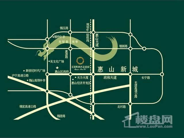 无锡奥林匹克花园交通图