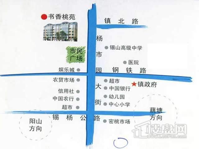 书香桃苑交通图