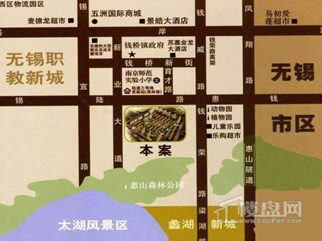 中富美林湖三期交通图