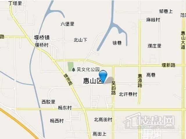 惠山新城置业政和大道北项目交通图