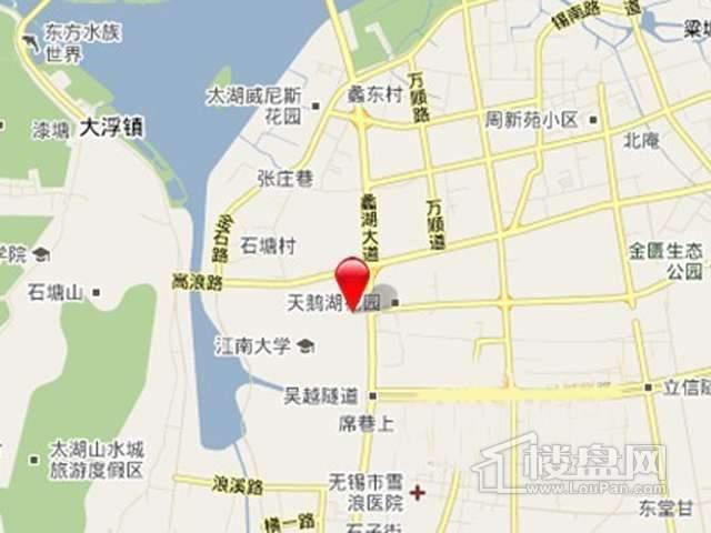 太湖新城蠡河路项目交通图